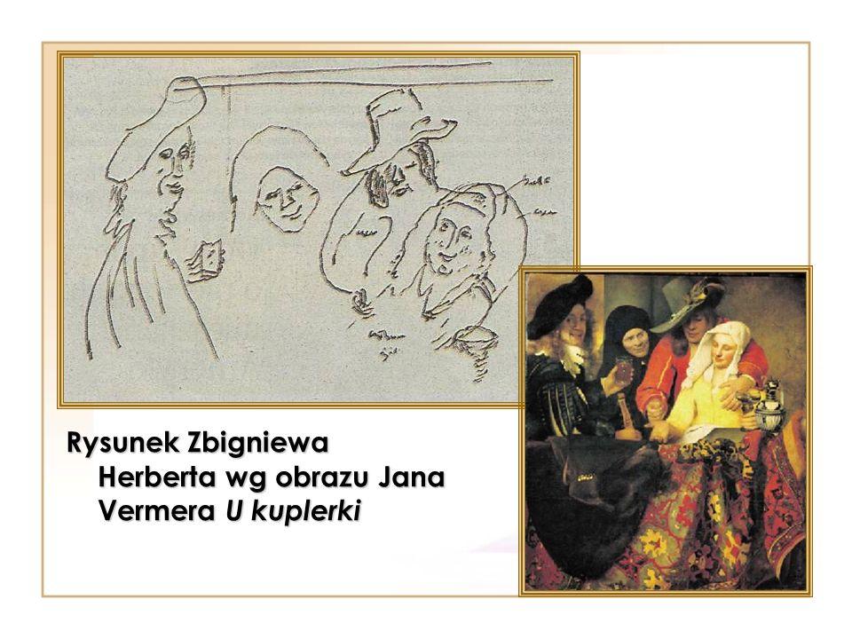 Rysunek Zbigniewa Herberta wg obrazu Jana Vermera U kuplerki