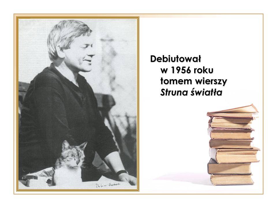 Debiutował w 1956 roku tomem wierszy Struna światła