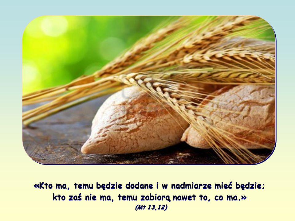 jeśli ktoś – przeciwnie – zaniedba to Słowo, Jezus mu je odbierze i powierzy innym, by przyniosło owoc.