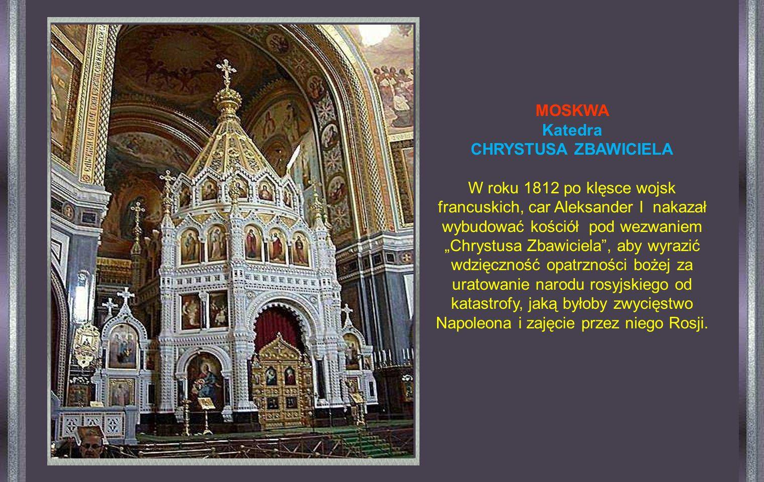 Ogólnie znana pod nazwą « Katedra św. Bazyla », Jej prawdziwa nazwa toKatedra Wniebowzięcia Matki Bożej
