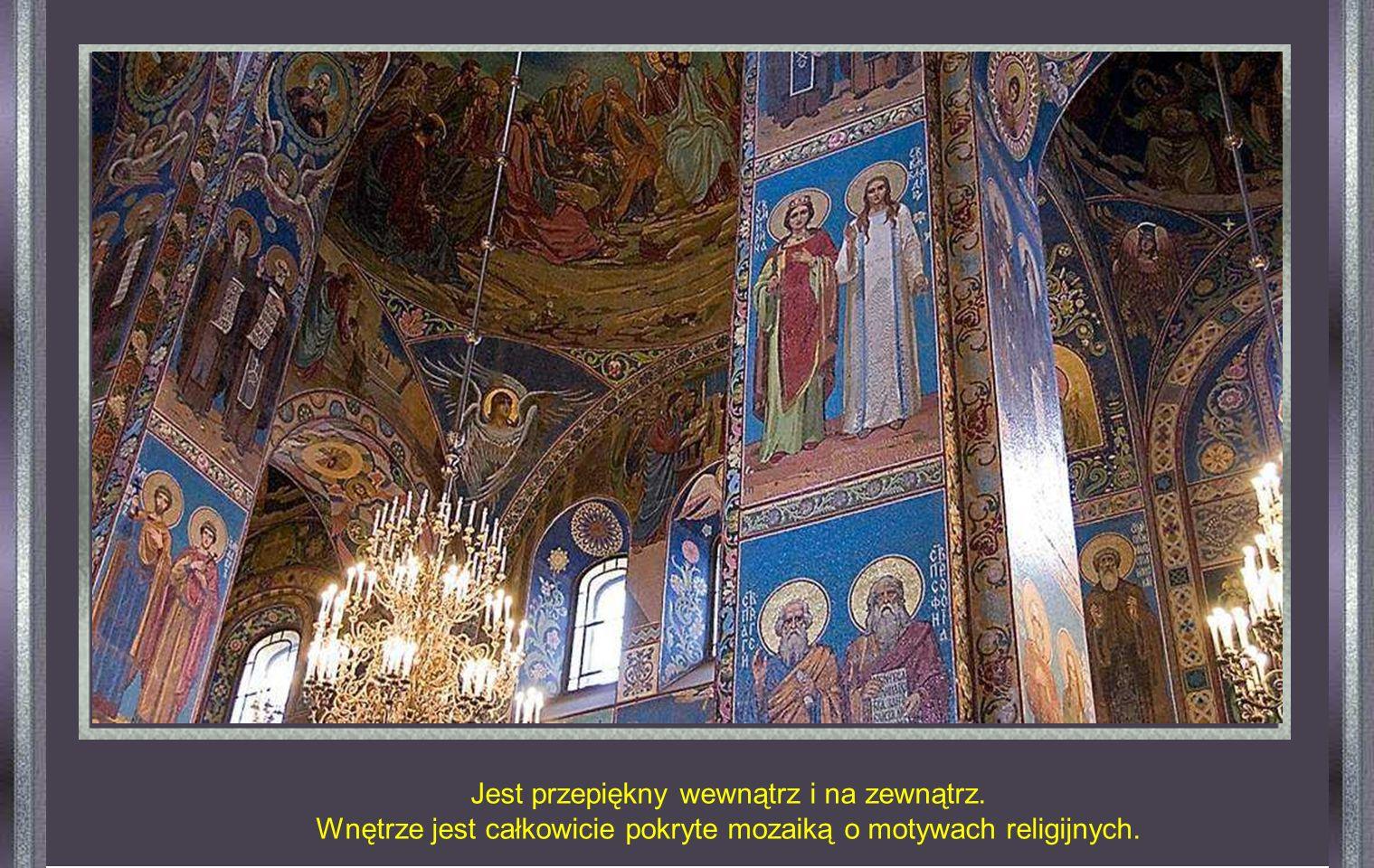 Jego oficjalna nazwa brzmi Kościół Zmartwychwstania. Został zbudowany w miejscu, gdzie 13 marca 1881 r. Został zamordowany car Aleksander II. To tragi