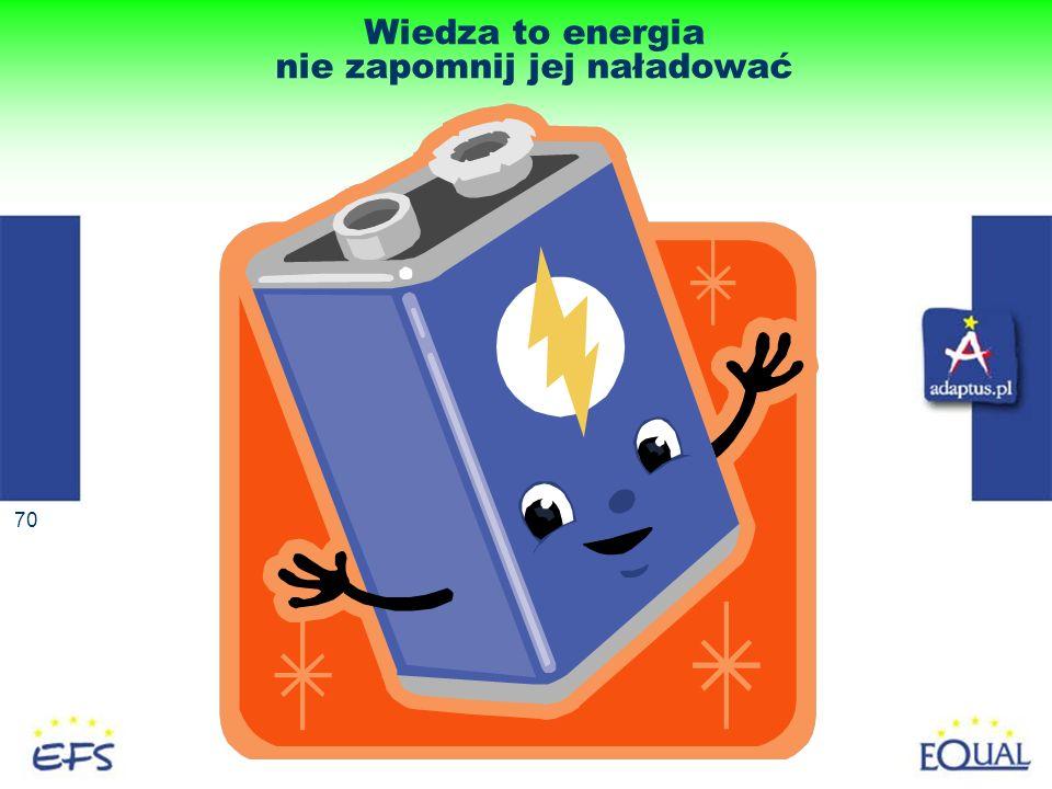70 Wiedza to energia nie zapomnij jej naładować