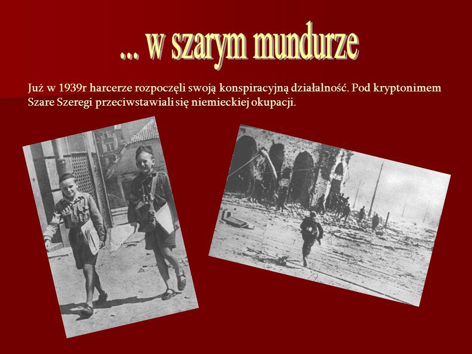 Już w 1939r harcerze rozpoczęli swoją konspiracyjną działalność. Pod kryptonimem Szare Szeregi przeciwstawiali się niemieckiej okupacji.