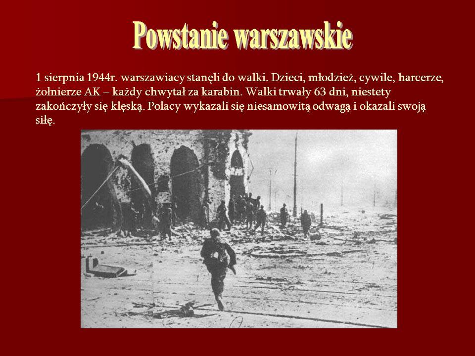 1 sierpnia 1944r. warszawiacy stanęli do walki. Dzieci, młodzież, cywile, harcerze, żołnierze AK – każdy chwytał za karabin. Walki trwały 63 dni, nies