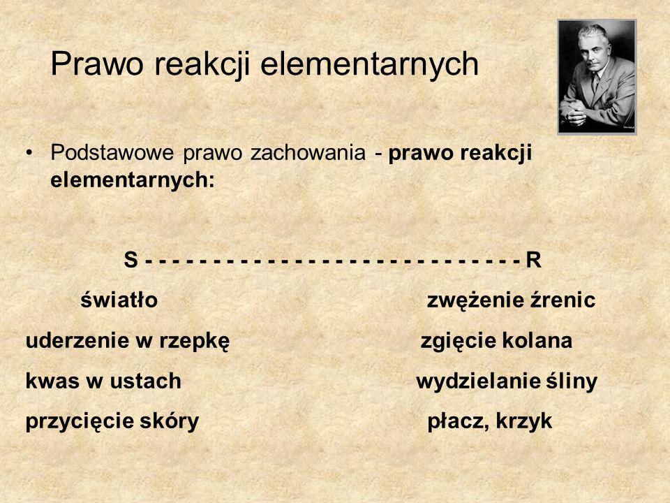 Prawo reakcji elementarnych Podstawowe prawo zachowania - prawo reakcji elementarnych: S - - - - - - - - - - - - - - - - - - - - - - - - - - - - R świ