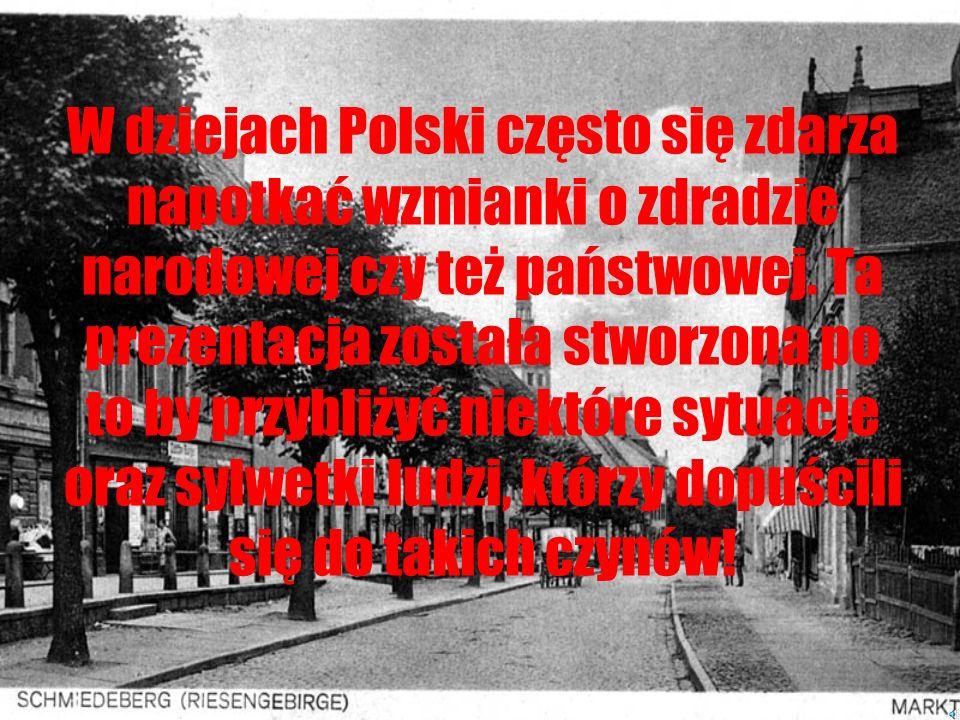 Czarne twarze Polski Granice zdrady Narodowej i Państwowej