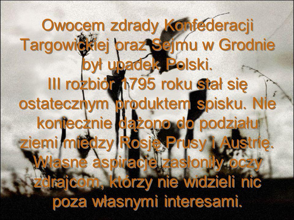 Ankwicz był tylko pionkiem, który pomógł faktycznym zdrajcom osiągnąć apogeum. A byli nimi przywódcy targowicy: Szczęsny Potocki Franciszek Ksawery Br