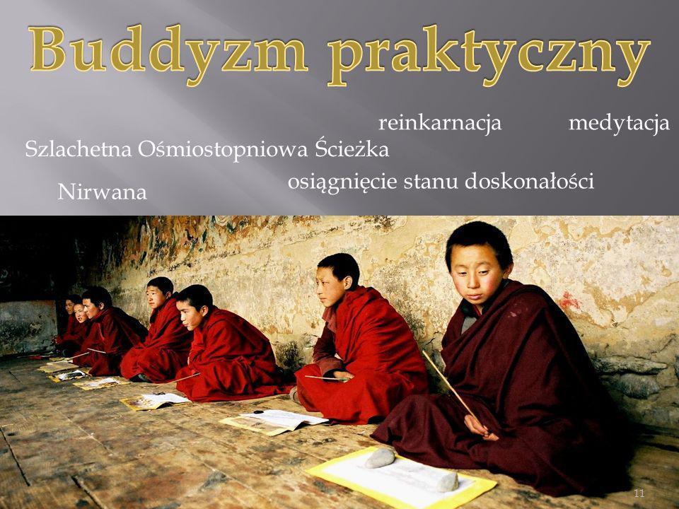 Szlachetna Ośmiostopniowa Ścieżka Nirwana reinkarnacja osiągnięcie stanu doskonałości medytacja 11