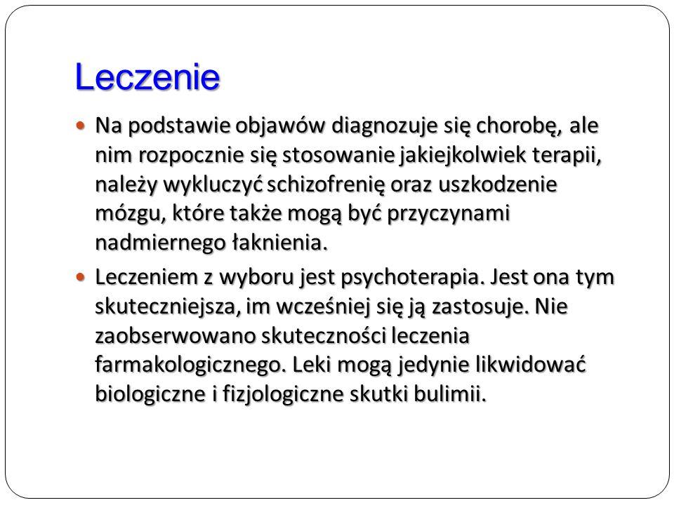 Leczenie Na podstawie objawów diagnozuje się chorobę, ale nim rozpocznie się stosowanie jakiejkolwiek terapii, należy wykluczyć schizofrenię oraz uszk