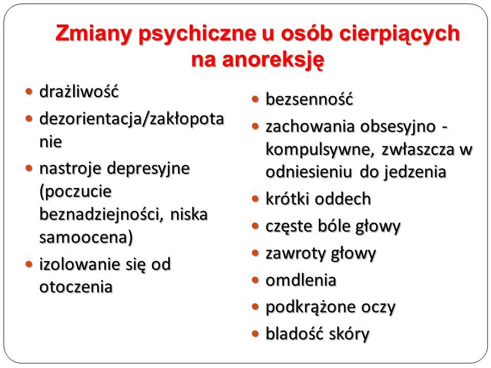 drażliwość drażliwość dezorientacja/zakłopota nie dezorientacja/zakłopota nie nastroje depresyjne (poczucie beznadziejności, niska samoocena) nastroje