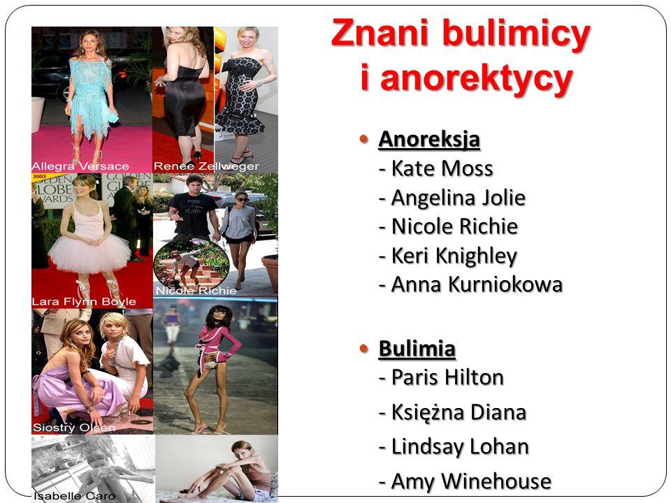 Anoreksja - Kate Moss - Angelina Jolie - Nicole Richie - Keri Knighley - Anna Kurniokowa Anoreksja - Kate Moss - Angelina Jolie - Nicole Richie - Keri