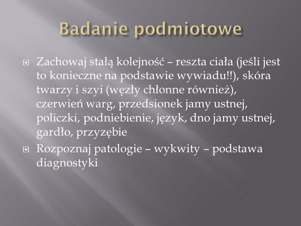 W Warszawie używamy terminu mucocele (wg Krakowa śluzowiak, dotyczy śluzówki zatok obocznych nosa – nasza mucocele wg nich to torbiel zastoinowa) Etiologia urazowa Charakterystyczna fluktuacja rozmiaru Leczenie chirurgiczne +eliminacja czynnika urazowego