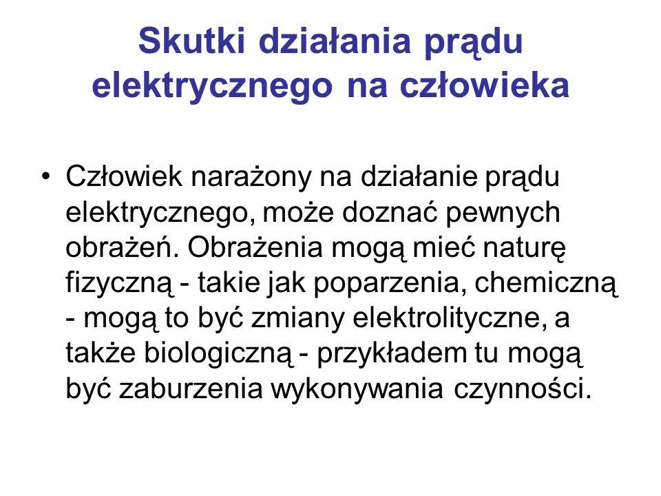 To jakie działanie u człowieka wywołuje prąd elektryczny, zależy bezpośrednio od tego, czy jest to prąd stały, czy zmienny.