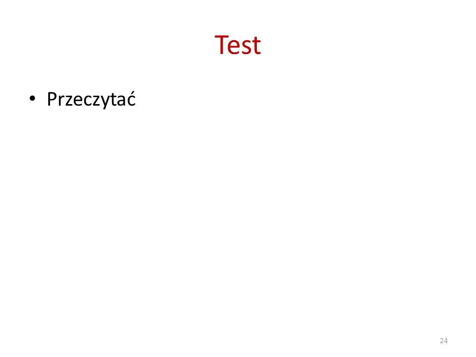 Test Przeczytać 24