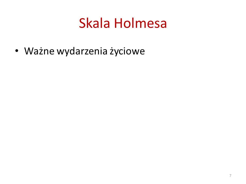Skala Holmesa Ważne wydarzenia życiowe 7