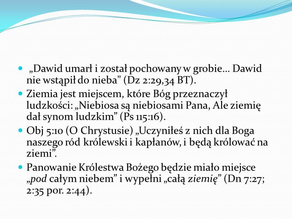 Dawid umarł i został pochowany w grobie… Dawid nie wstąpił do nieba