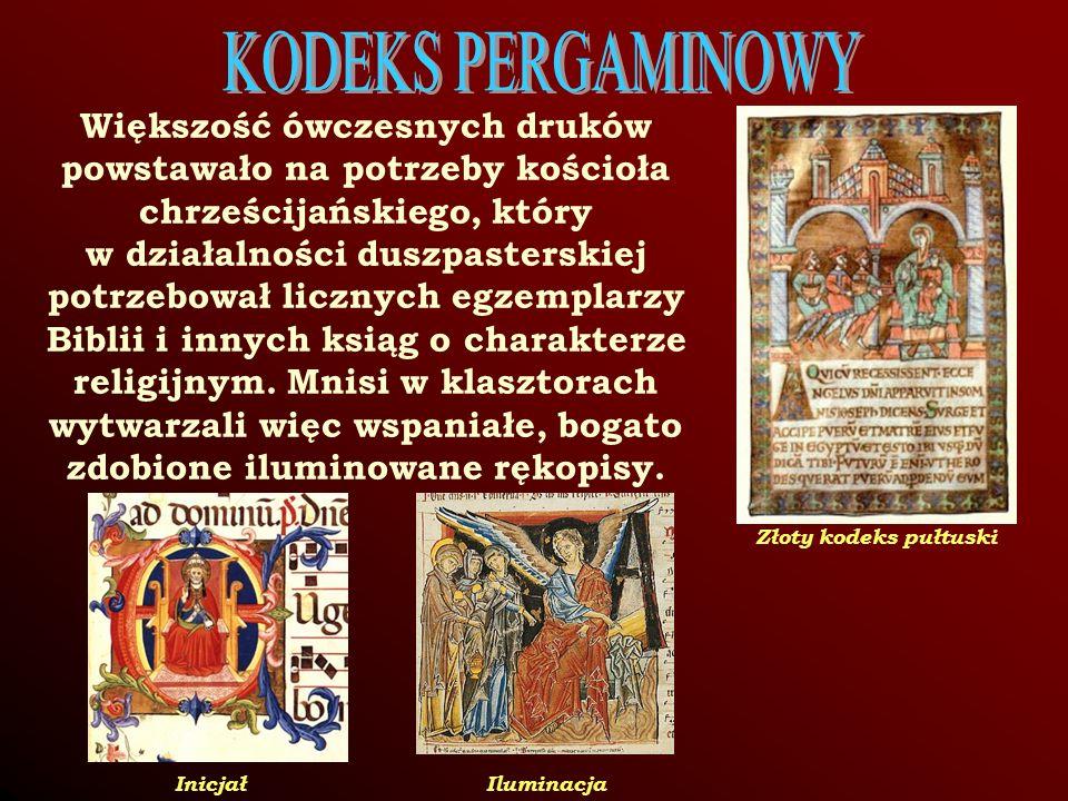 Większość ówczesnych druków powstawało na potrzeby kościoła chrześcijańskiego, który w działalności duszpasterskiej potrzebował licznych egzemplarzy Biblii i innych ksiąg o charakterze religijnym.