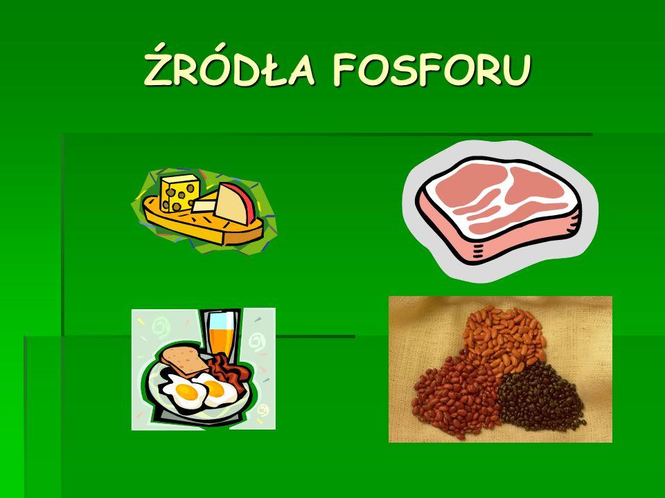 ŹRÓDŁA FOSFORU