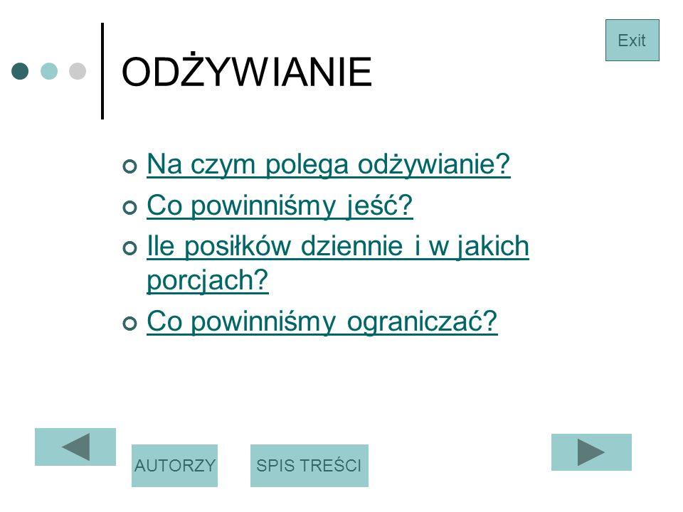 Autorzy Justyna Kowalewska Patrycja Grygo Dominika Tylenda Exit SPIS TREŚCI