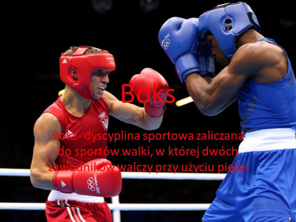 Boks Boks- dyscyplina sportowa zaliczana do sportów walki, w której dwóch zawodników walczy przy użyciu pięści