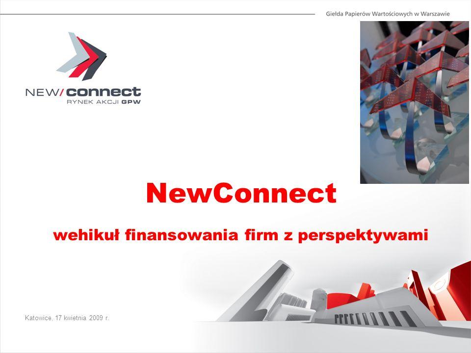 Katowice, 17 kwietnia 2009 r. NewConnect wehikuł finansowania firm z perspektywami