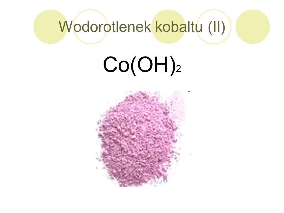 Wodorotlenek kobaltu (II) Co(OH) 2
