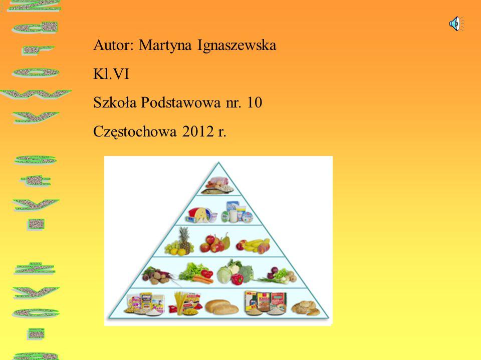 Autor: Martyna Ignaszewska Kl.VI Szkoła Podstawowa nr. 10 Częstochowa 2012 r.