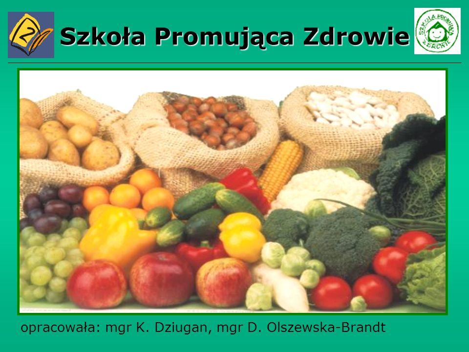 Szkoła Promująca Zdrowie opracowała: mgr K. Dziugan, mgr D. Olszewska-Brandt