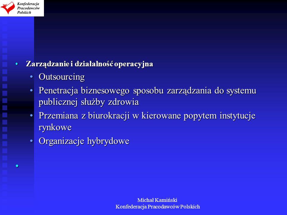 Michał Kamiński Konfederacja Pracodawców Polskich Zarządzanie i działalność operacyjnaZarządzanie i działalność operacyjna OutsourcingOutsourcing Pene