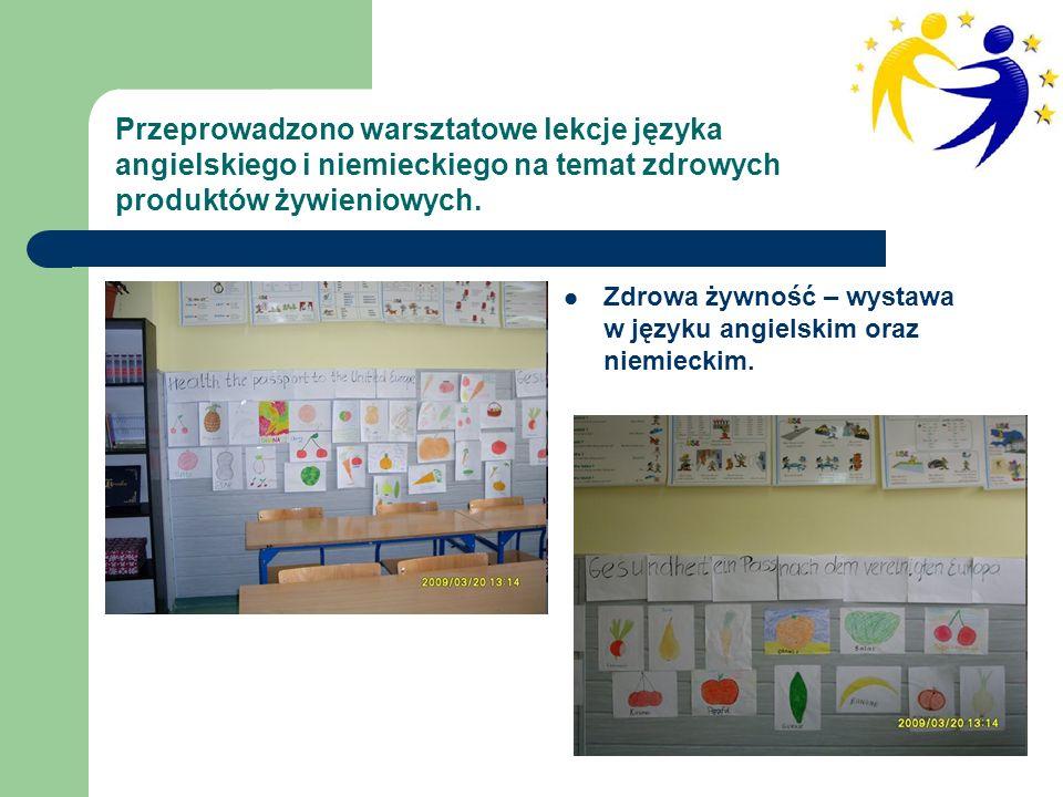 Zdrowa żywność – wystawa w języku angielskim oraz niemieckim.