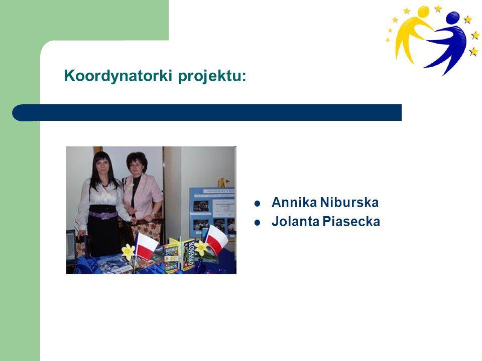 Annika Niburska Jolanta Piasecka Koordynatorki projektu: