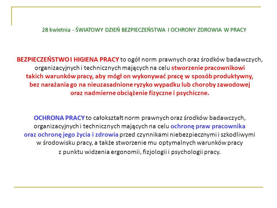 BEZPIECZEŃSTWO I HIGIENA PRACY BEZPIECZEŃSTWO I HIGIENA PRACY to ogół norm prawnych oraz środków badawczych, organizacyjnych i technicznych mających n