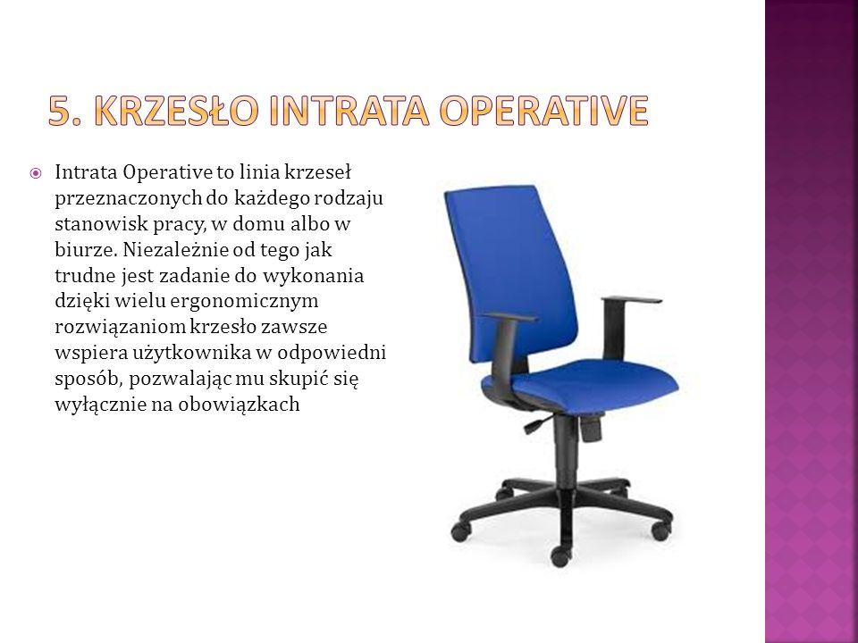 Intrata Operative to linia krzeseł przeznaczonych do każdego rodzaju stanowisk pracy, w domu albo w biurze. Niezależnie od tego jak trudne jest zadani