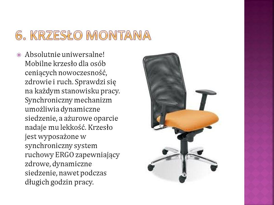 Absolutnie uniwersalne! Mobilne krzesło dla osób ceniących nowoczesność, zdrowie i ruch. Sprawdzi się na każdym stanowisku pracy. Synchroniczny mechan