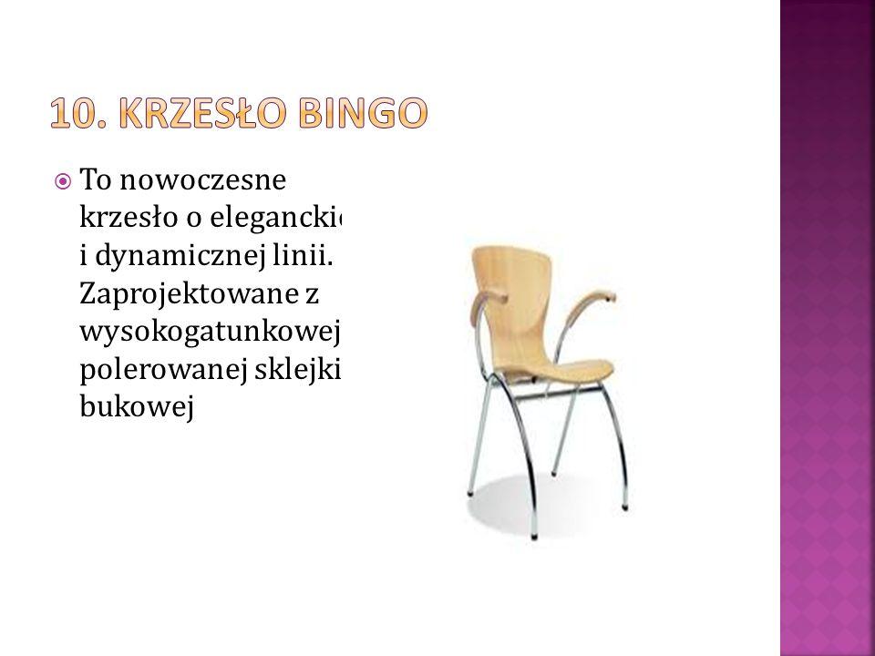 To nowoczesne krzesło o eleganckiej i dynamicznej linii. Zaprojektowane z wysokogatunkowej, polerowanej sklejki bukowej