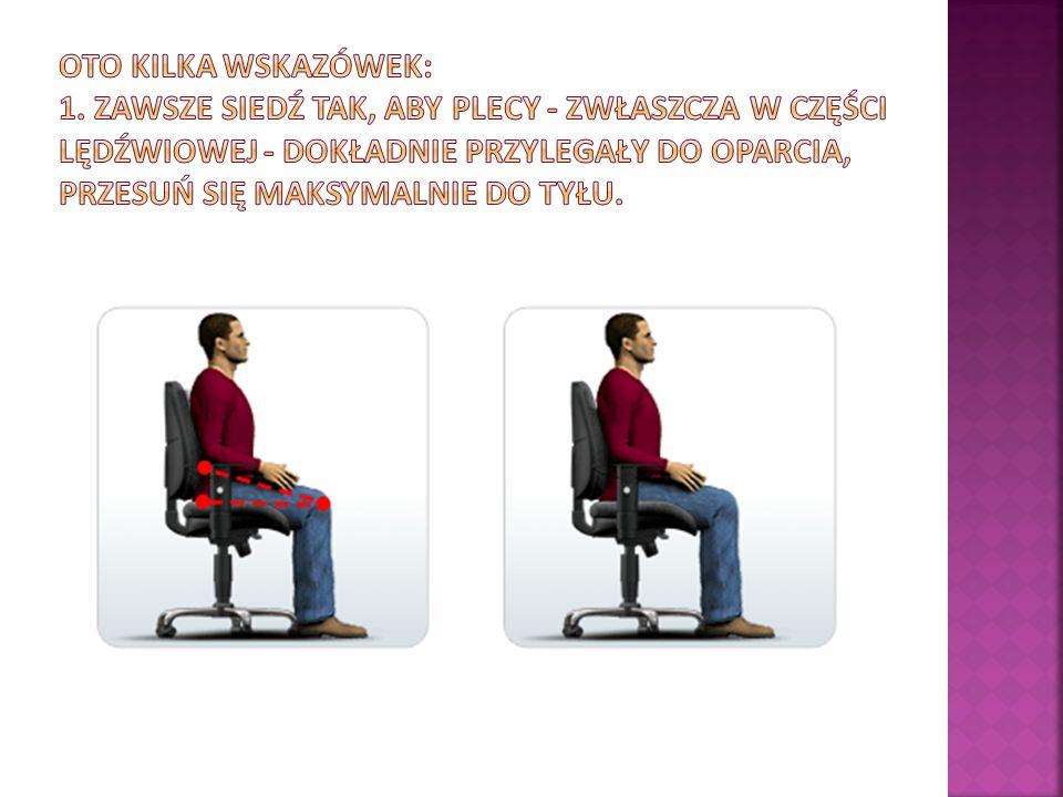 ZALETY Oparcie : swobodne bujanie Siedzisko : amortyzacja siedziska się i możliwość blokowania w regulowana głębokość (długość) pozycji do pracy, łatwo regu- siedziska lowana wysokość oparcia