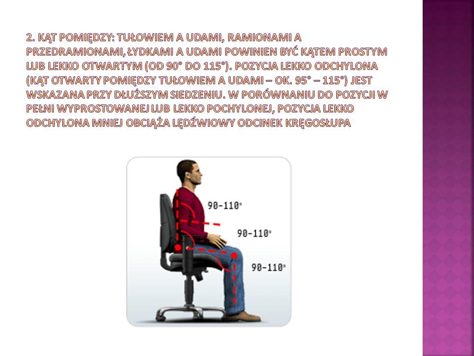 ZALETY Siedzisko: łagodnie opadająca przednia krawędź siedziska, łagodny profil krawędzi nie uciska nóg, zapewnia prawidłowe krążenie i zdrowie podczas siedzenia