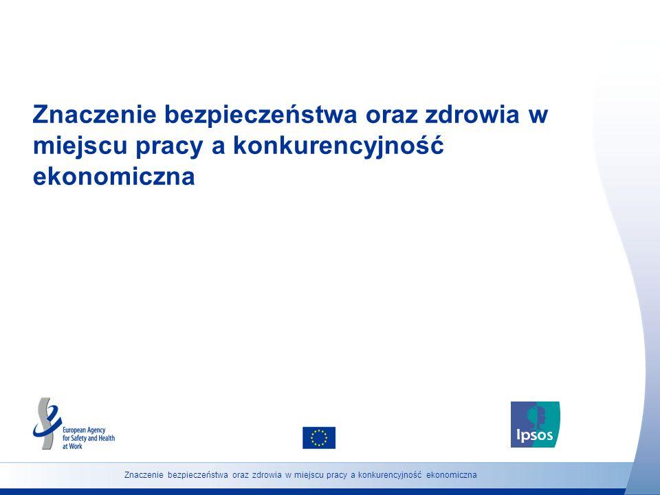 Znaczenie bezpieczeństwa oraz zdrowia w miejscu pracy a konkurencyjność ekonomiczna