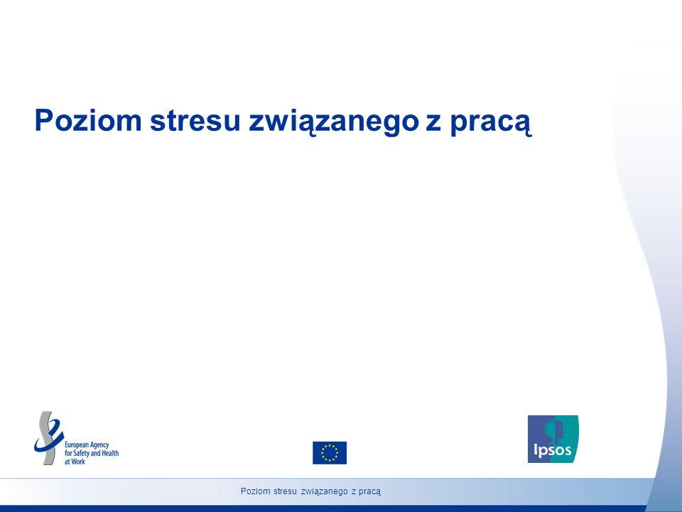 7 http://osha.europa.eu Zbiorowość: Osoby w wieku 18 lat i powyżej Poziom stresu związanego z pracą (Polska) Jak Pan(i) myśli, czy liczba osób w Polsce cierpiących na stres wywołany przez wykonywaną pracę będzie w najbliższych pięciu latach rosnąć, maleć, czy pozostanie na podobnym poziomie.