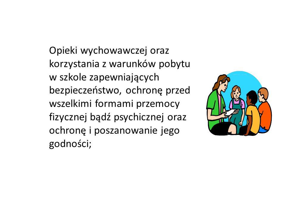 Przestrzegania zasad kultury współżycia w odniesieniu do nauczycieli, kolegów i innych pracowników szkoły