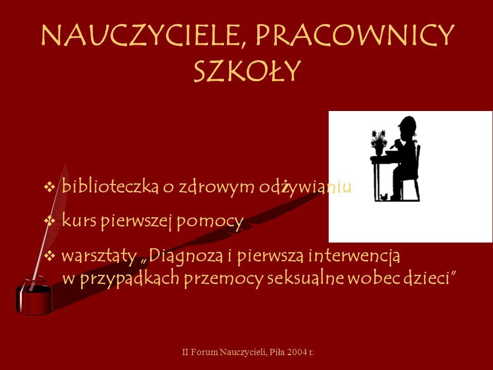II Forum Nauczycieli, Piła 2004 r. UCZNIOWIE Zdrowo, bezpiecznie i rado ś nie mówimy dzie ń dobry wio ś nie
