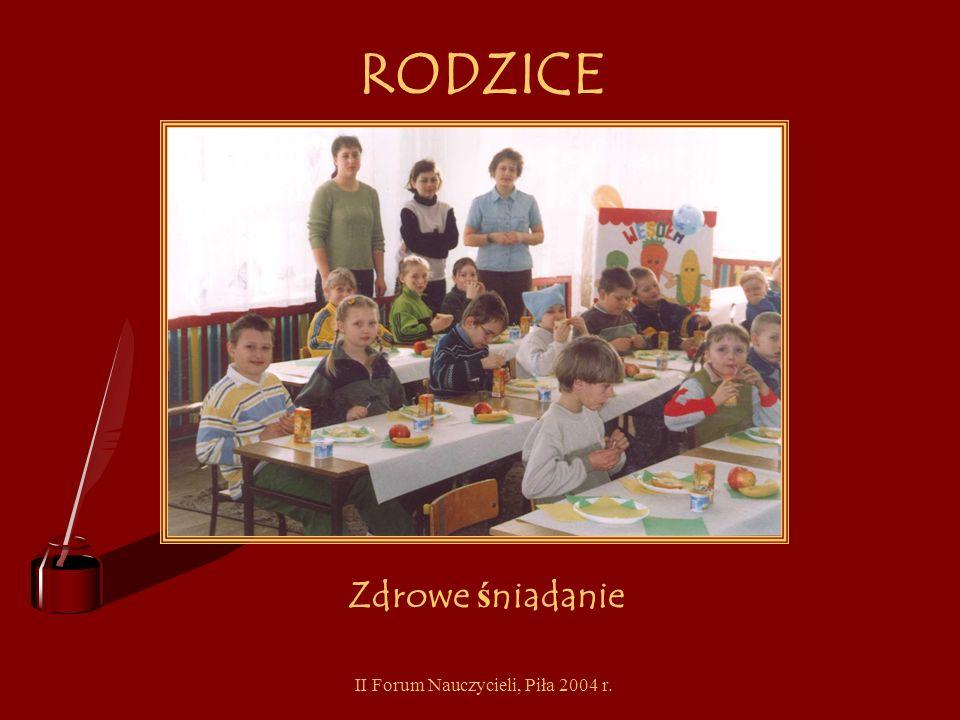 II Forum Nauczycieli, Piła 2004 r. RODZICE Jak dba ć o zdrowie - wystawa