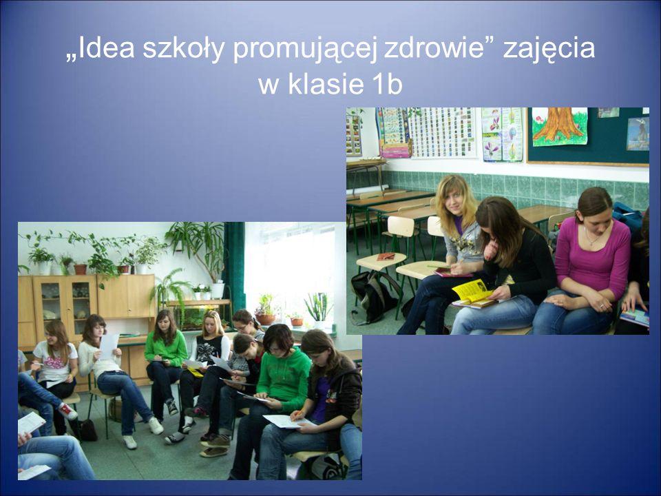 Idea szkoły promującej zdrowie zajęcia w klasie 1b