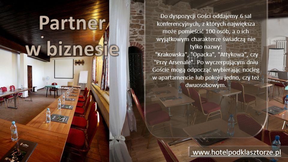 Do dyspozycji Gości oddajemy 6 sal konferencyjnych, z których największa może pomieścić 100 osób, a o ich wyjątkowym charakterze świadczą nie tylko nazwy: Krakowska , Opacka , Attykowa , czy Przy Arsenale .