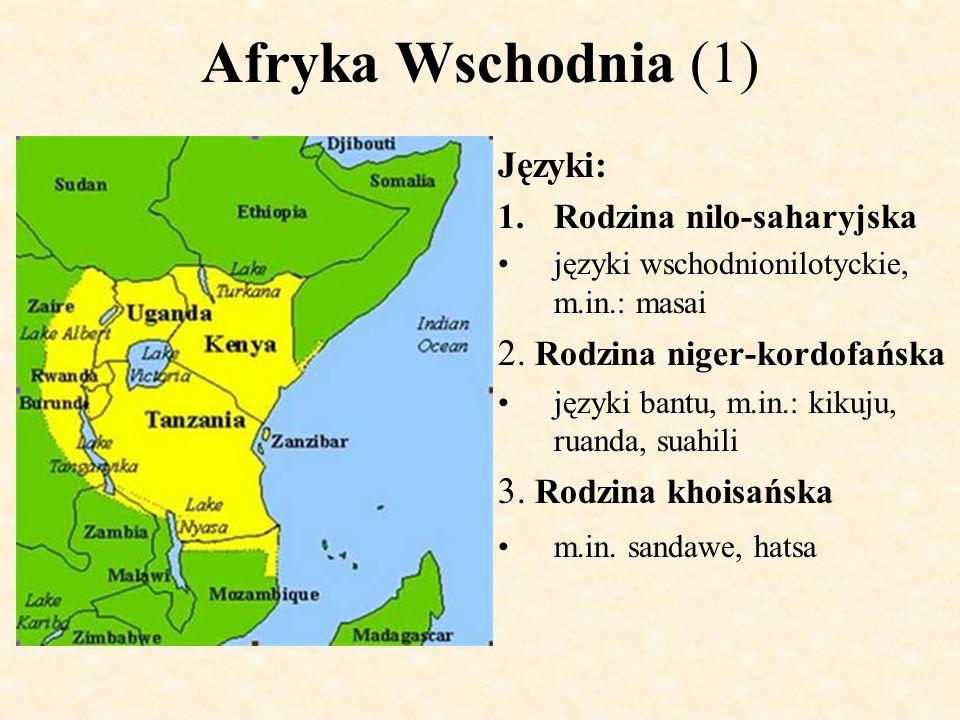 Afryka Wschodnia (2) Główne ludy: 1.Ludy nilochamickie Tutsi (Watussi) - lud pochodzenia kuszyckiego, Burundi (840 tys.) i Ruanda(645 tys.).