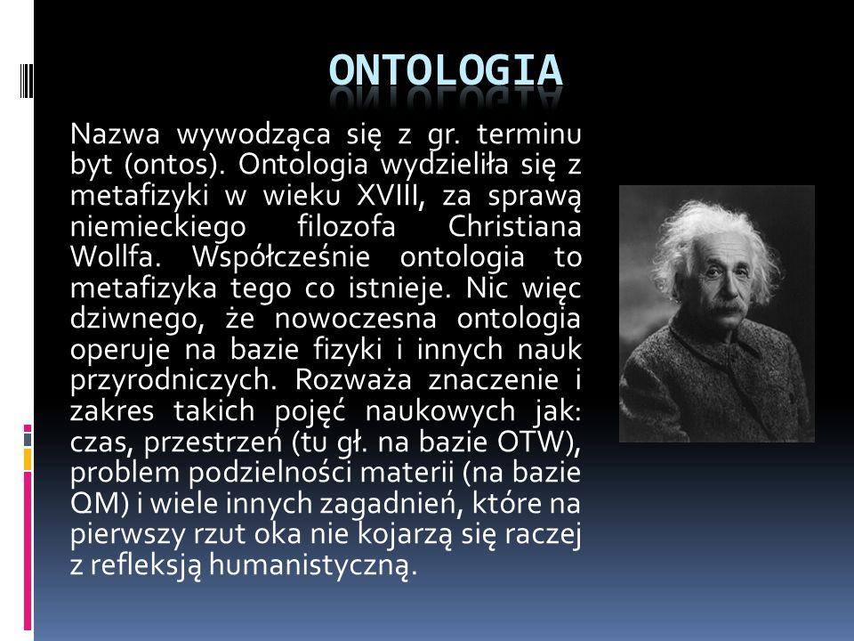 Nazwa tej najbardziej kontrowersyjnej dziedziny filozofii pochodzi od komentatorów dzieł Arystotelesa. Obecnie metafizyka obejmuje analizę tych zagadn