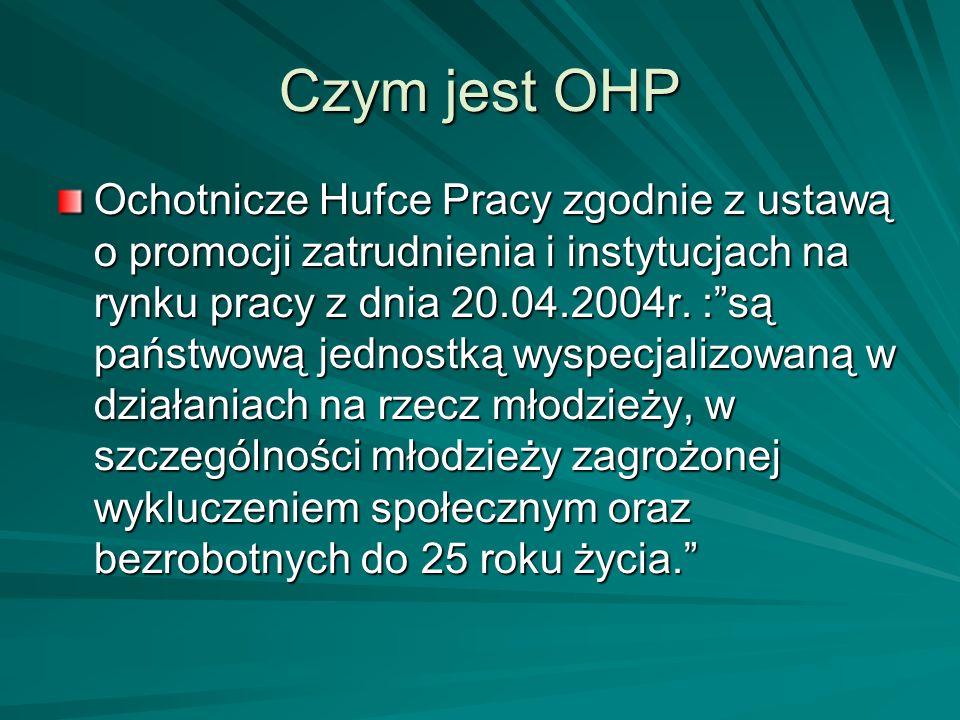 Czym jest OHP Ochotnicze Hufce Pracy zgodnie z ustawą o promocji zatrudnienia i instytucjach na rynku pracy z dnia 20.04.2004r. :są państwową jednostk