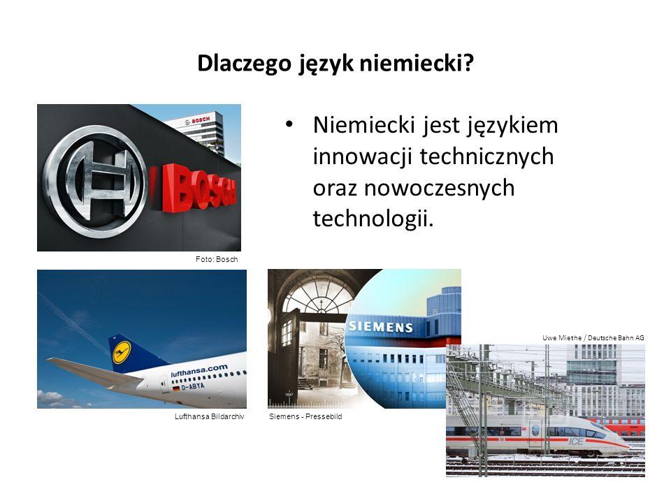 Dlaczego język niemiecki? Niemiecki jest językiem innowacji technicznych oraz nowoczesnych technologii. Foto: Bosch Siemens - PressebildLufthansa Bild
