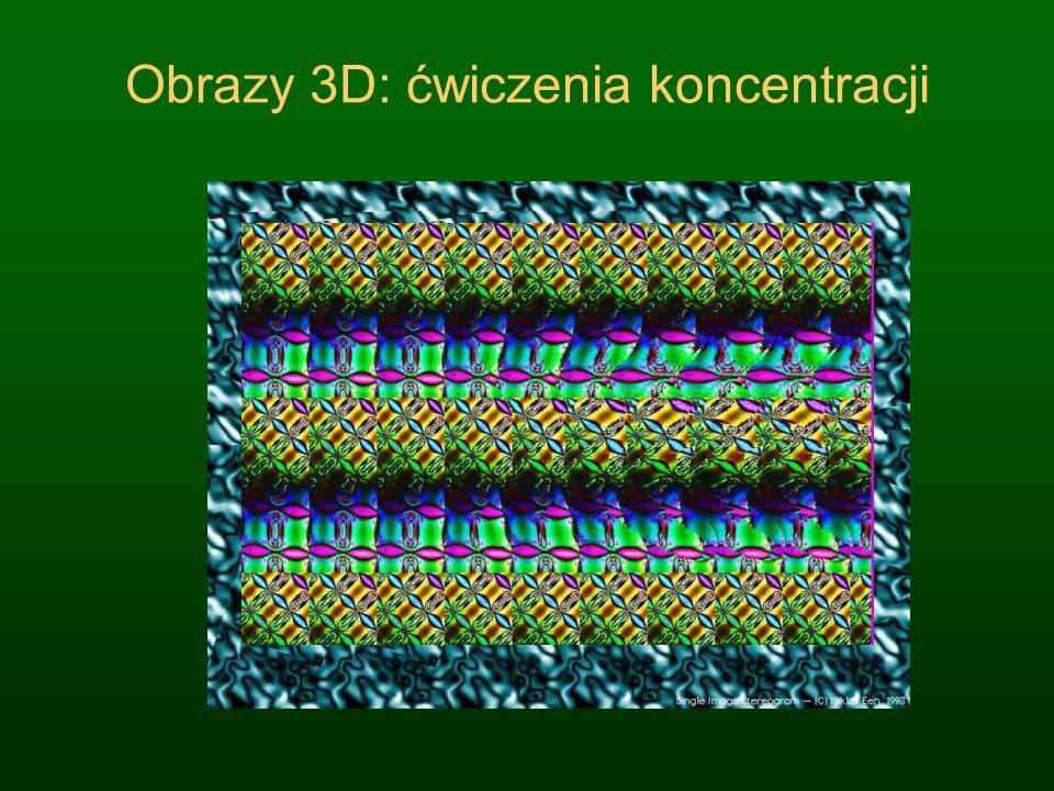 Obrazy 3D: ćwiczenia koncentracji