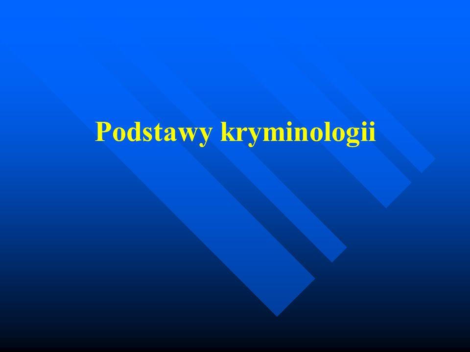 Główne nurty (paradygmaty) w kryminologii w kryminologii